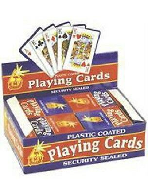 2pk of Plastic coated playing card professional ,Security sealed