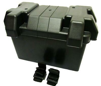 LEISURE BATTERY BOX VERY LARGE with STRAPS caravan boat motorhome car