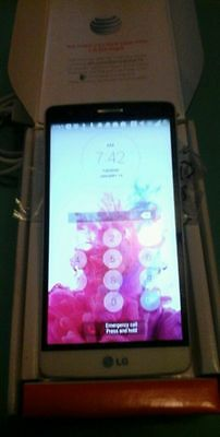 New Factory unlocked LG G3 Vigor- Silk White Excellent New Condition Clean ESN