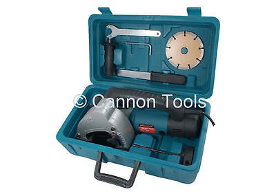 1500W WALL CHASER CUTTING DISC SAW C/W BLADE SPANNER AND CASE 110V  Volt
