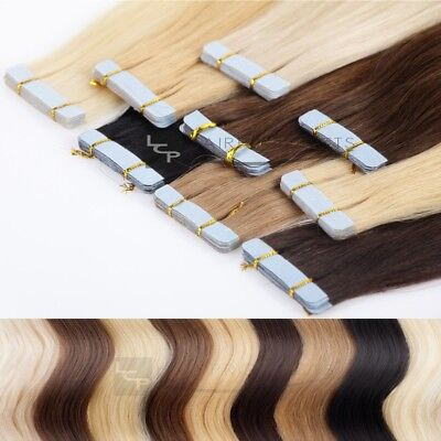 Echthaar Tape In Extensions 50cm Haarverlängerung 8 x 4 cm LCP Hairproducts 2629