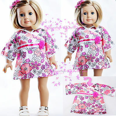 "New Doll lovely Pink Dress fits 18"" American Girl Or Other 18"" Doll for Xmas"