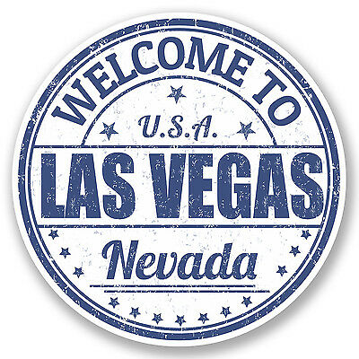 2 x Las Vegas Nevada USA Vinyl Sticker Decal Luggage Travel Tag Flag Gift #4588