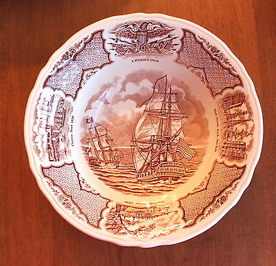 """Alfred Meakin Fair Winds Historical Scenes Serving Bowl  8 1/2"""" by 2 1/2"""" Deep"""