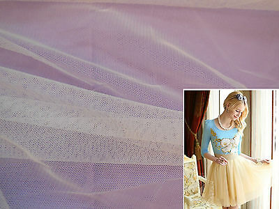 White Soft Tulle Fabric Dress making/ all kind of DIY 160cm wide.Sold per 0.5M