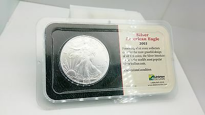 2003 Walking Liberty Eagle 1 One Troy Oz 999 Pure Fine Silver Coin Uncirculated