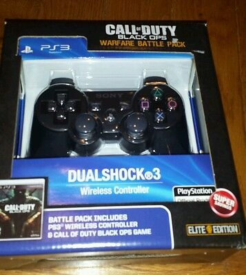 CALL OF DUTY BLACK OPS WARFARE BATTLE PACK PS3 ELITE EDITION GAME AND CONTROLLER