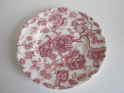 "Johnson Bros Chippendale Pink and White Dinner Plate 10"" dia"