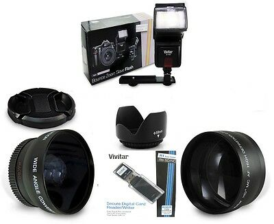 PRO FISHEYE TELE MACRO Lens FLASH Kit FOR CANON T3I T4I T5 T5I T3 XT AE1
