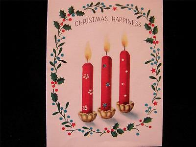 """VINTAGE """"GLOWING WITH PROMISE!!"""" CHRISTMAS GREETING CARD - NORCROSS"""