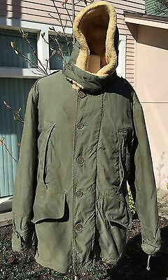 Vintage WWII Era US ARMY AIR FORCE Type B 11 Moda Coat Co Lined Military Coat 36