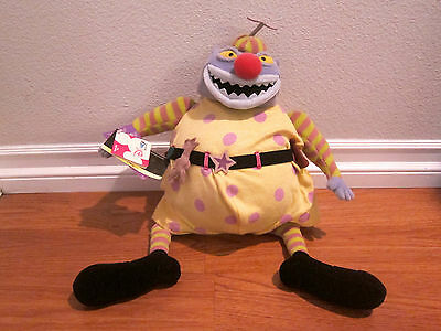 Nightmare Before Christmas Clown With A Tear Away Face.Nightmare Before Christmas 16 Clown Tear Away Face Plush Rare Nwt