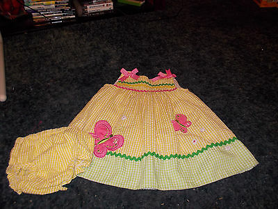 Baby Girl's Rare Editions Butterfly Dress Sz. 18M Great For Easter