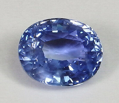 Unheated GIA Certified Ceylon Natural Blue Sapphire Oval 3.83 ct Rare