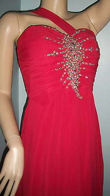 Gorgeous Strawberry pink red beaded PROM Dress size 8
