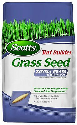 Scotts Turf Builder Grass Seed, Zoysia Thriving Grass Seed and Mulch, 5-LB, New