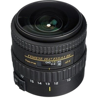 New Tokina AT-X 107 AF NH Fisheye 10-17mm f/3.5-4.5 Lens for Nikon or canon