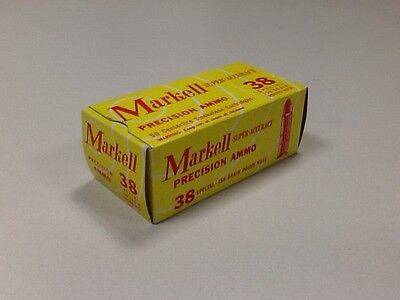 Vintage Markell 38 Special Ammo Box San Francisco California Full Of Empties