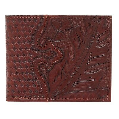 American West Western Mens Bi-fold Wallet Leather Brown 0520210