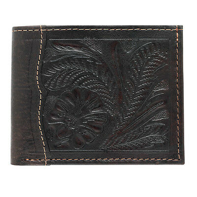 American West Western Mens Bi-fold Wallet Leather Brown 0550137