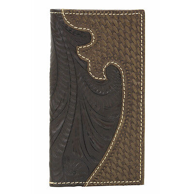 American West Western Mens Rodeo Wallet Leather Brown 0514450