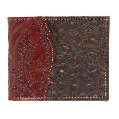American West Western Mens Bi-fold Wallet Leather Brown 0521057