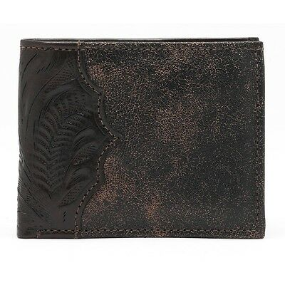 American West Western Mens Bi-fold Wallet Leather Brown 0525065