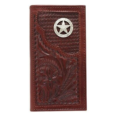 American West Western Mens Rodeo Wallet Leather Brown 0510106