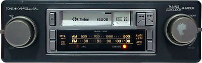 Vintage Car Stereo w/ Cassette Player and AM/FM Clarion 5300R (((Old School)))