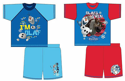 BOYS KIDS DISNEY FROZEN SVEN OLOF ELSA SHORTIE PYJAMAS NIGHTWEAR 12mths-4years