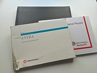 VAUXHALL SERVICE BOOK MANUAL & WALLET ASTRA HATCH COUPE ESTATE CONVERTIBLE 98-05