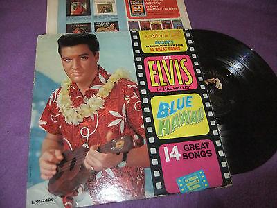 ELVIS PRESLEY-BLUE HAWAII LP 1961 RARE ORG US PRESS 2426 RCA VICTOR