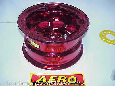 "Aero RED 5 x 4-3/4"" Beadlock Wheel 15""x 8"" IMCA 2"" Offset 53-984720 W16 Modified"
