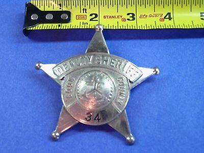 Illinois Cook County Deputy Sheriff Police Badge 119 Obsolete 59 62