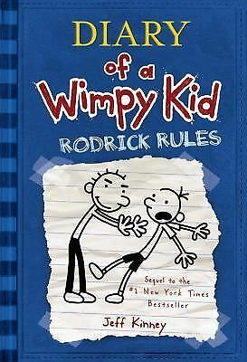 Diary of a Wimpy Kid #2: Rodrick Rules by Jeff Kinney c2008, Hardcover, NEW