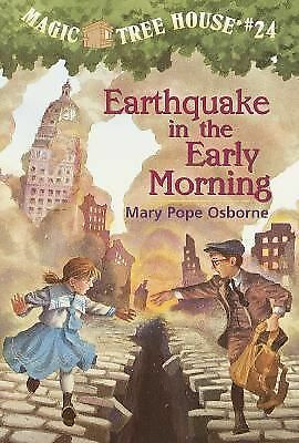 "The Magic Tree House #24 ""Earthquake in the Early Morning"" Osborne (paperback)"