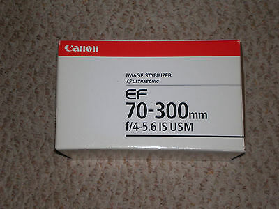 Canon Zoom EF 70-300mm Lens  F-4-5.6 IS USM Image Stabilizer Ultrasonic