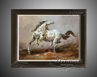 YHC0919/Hand-painted thick oil Palette knife Animal HORSE Oil Painting.NO Frame
