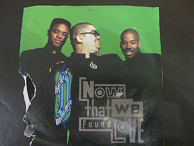 """HEAVY D & THE BOYZ  NOW THAT WE'VE FOUND LOVE - MCA 7"""" single record sleeve torn"""