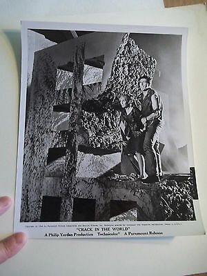 Vintage 1964 CRACK IN THE WORLD Sci Fi Movie Press Photograph #97