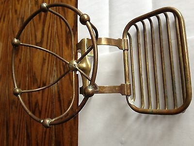 Vintage Brass Antique Soap Towel Holder Hanger for a Claw Foot Bath Tub  SAVERS