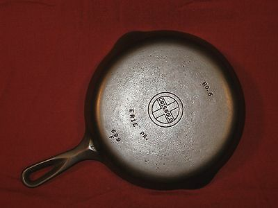 Vintage Griswold #6 (699F) Cast Iron Fry Pan/Skillet Smooth Bottom
