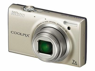 Nikon COOLPIX S6100 16MP Digital Camera 7x NIKKOR Wide-Angle Opt Zoom Touch LCD