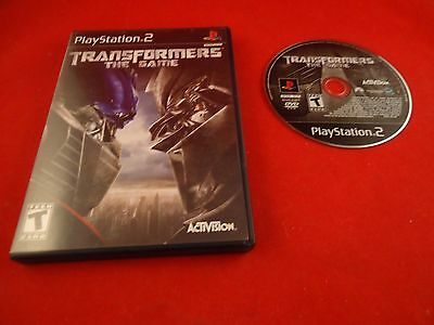Transformers: The Game  (Sony PlayStation 2, 2007) w/ Case Disc WORKS! PS2