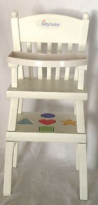AMERICAN GIRL Bitty Baby Doll HIGH CHAIR activity table SHAPES RETIRED RARE HTF!
