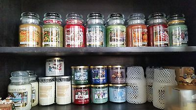 Lot of 2 Retired Yankee Candle Christmas at the Beach large jars  Free Shipping
