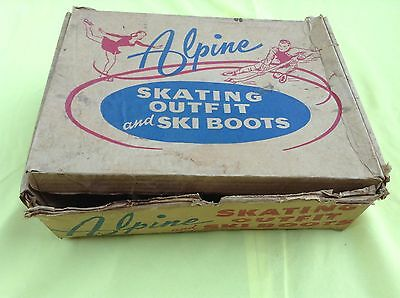 Vintage Alpine Skating Outfit and Ski Boots with Box From Sears