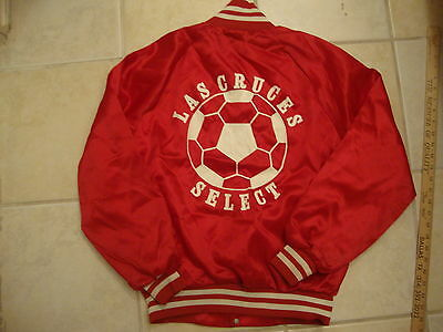 Vintage Las Cruces New Mexico Soccer Select red punk rock SATIN jacket S