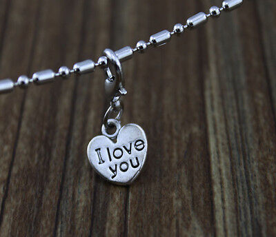 6pcs hot sell heart dangle Floating Charm for Glass Memory Locket necklace e324