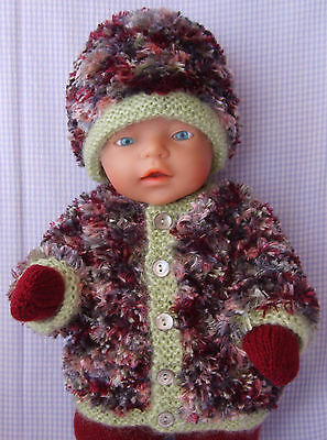 Winter Outfit - Dolls Clothes Hand Made for 16-17 inch Dolls Reborns